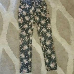 Formal flower jeans